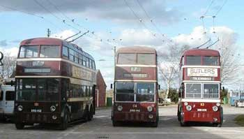 Reading trolleybuses gathering for the event
